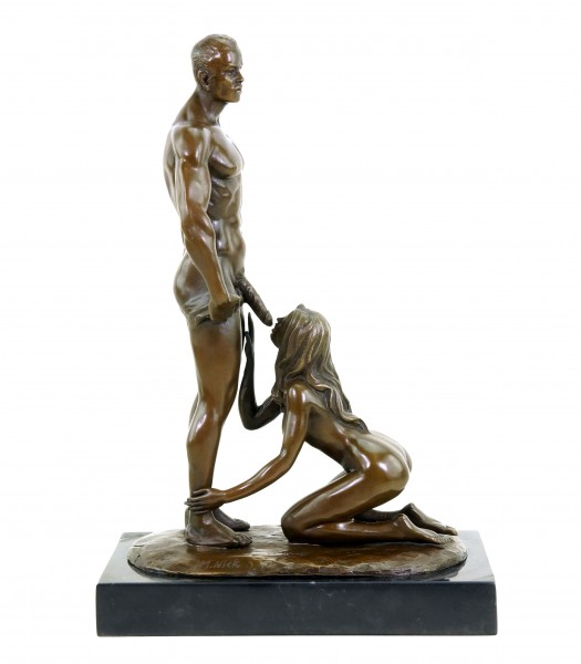 Blowjob Statue - Sex Bronze - Erotic Pair of Lovers - Signed M.Nick