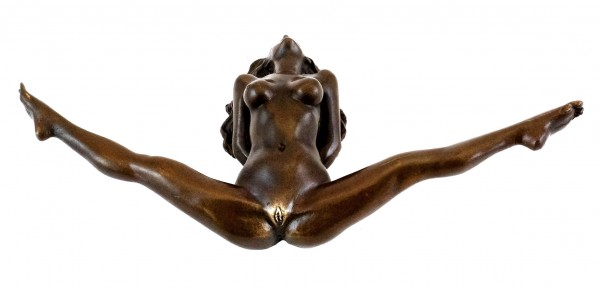 Bondage Girl Chantal - Erotic Sex Bronze - sign. J. Patoue