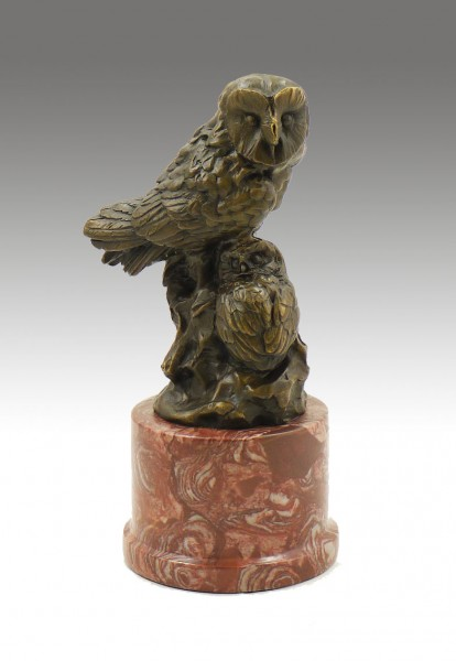 Animal Sculpture - Two Owls - signed by Milo