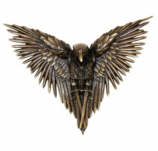 Hanging Steampunk Sculpture - Victorian Raven - Gothic - Wall Decor